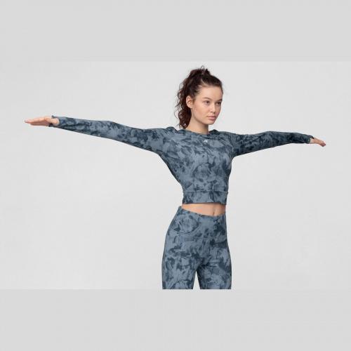 Îmbrăcăminte - 4f Tricou cu mânecă lungă de yoga pentru femei TSDLF010 | Fitness