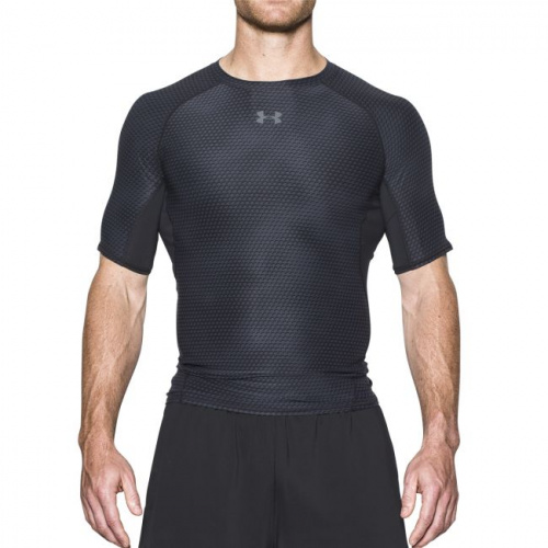 Imbracaminte - Under Armour HeatGear Armour Printed Short Sleeve Compression Shirt 7477 | Fitness