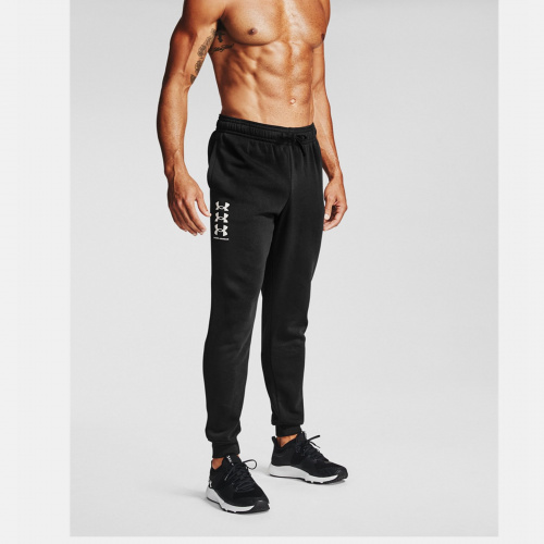 Îmbrăcăminte - Under Armour Rival Fleece Multilogo Joggers 7131 | Fitness