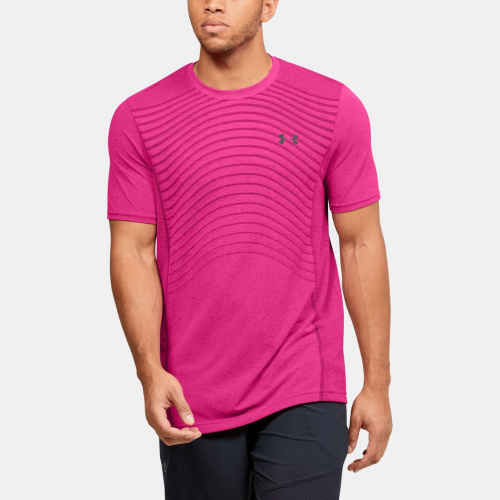 Îmbrăcăminte - Under Armour Seamless Wave Short Sleeve 1450 | Fitness