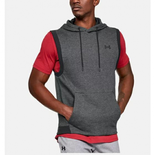 Îmbrăcăminte - Under Armour Unstoppable Double Knit Sleeveless Hoodie 1115 | Fitness