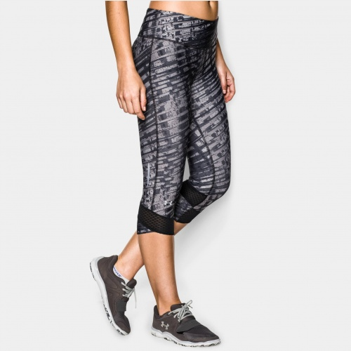 Imbracaminte - Under Armour Printed Fly-By Compr. Capri | fitness