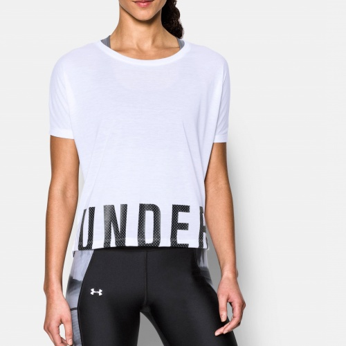Imbracaminte - Under Armour Wordmark Hem Cropped Shirt | fitness